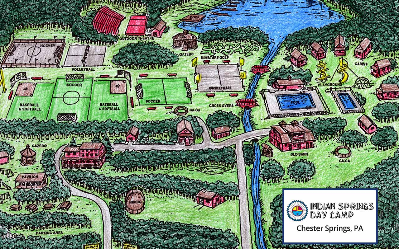 Map of camp amenities