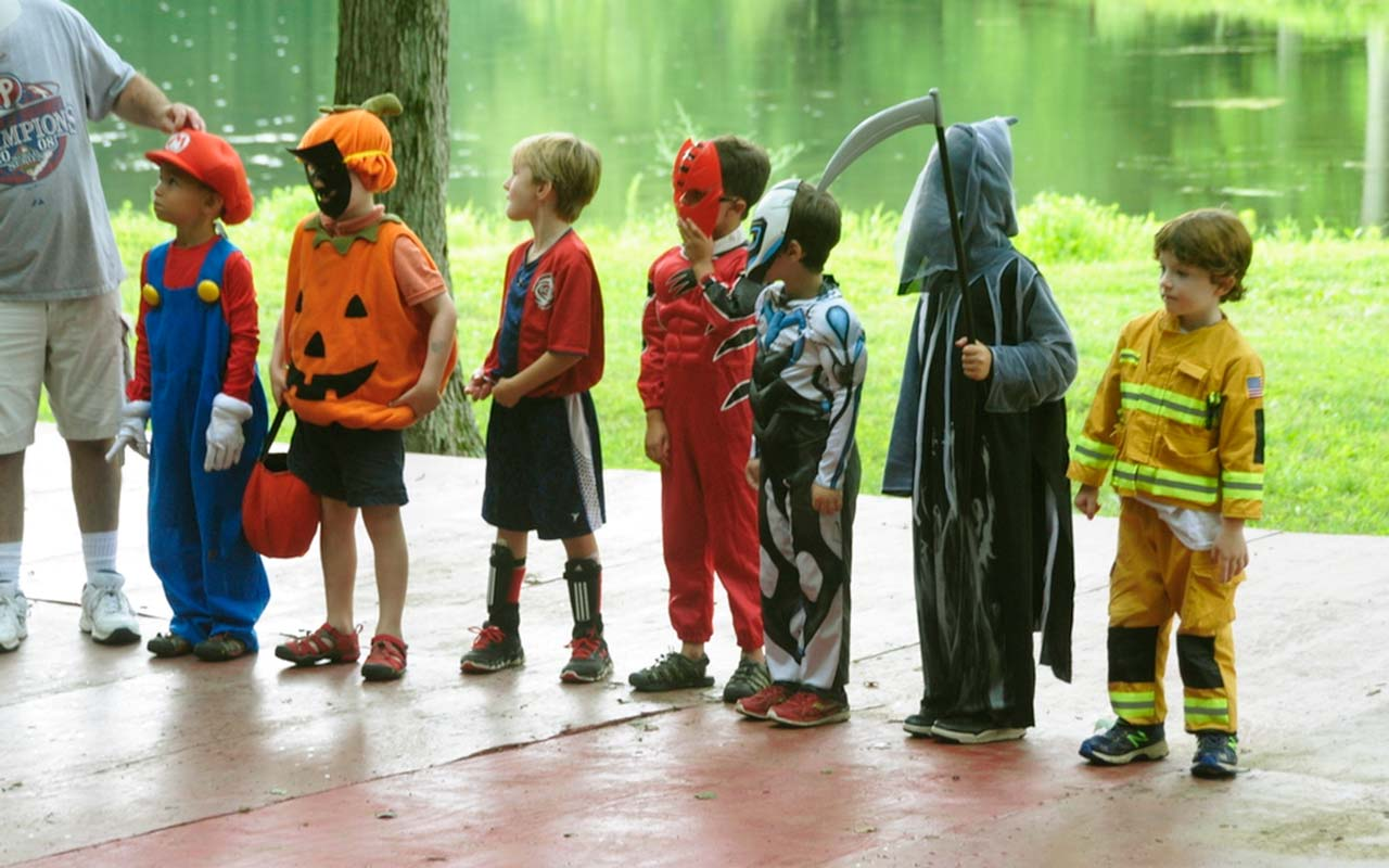 Campers in costume